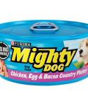 Mighty Dog Chicken, Egg And Bacon Country Platter Canned Dog Food 5.5-oz Cans / Case Of 24