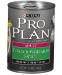 Purina Pro Plan Canned Turkey And Vegetables For Adult Dogs 13-oz Cans / Case Of 12