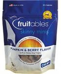 Vetscience Fruitables Skinny Minis Soft and Chewy Dog Treats- Pumpkin and Berry Flavor- 5-oz