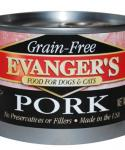 Evangers Grain Free Pork Canned Dog and Cat Food