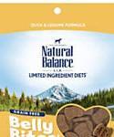 Natural Balance Belly Bites Grain Free Semi-moist Duck and Legume Dog Treats, 6-oz