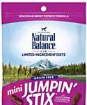 Natural Balance L.i.t. Limited Ingredient Treats Mini Jumpin Stix Venison and Sweet Potato Dog Treats, 3.5-oz