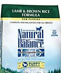 Natural Balance L.i.d. Limited Ingredient Diets Lamb and Brown Rice Puppy Food