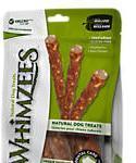 Whimzees Large Veggie Sausage Dog Treats, 7-count