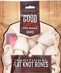 Good Lovin Traditional Flat Knot Bone Dog Chew, 4-inch, Count Of 6, 10.6-oz