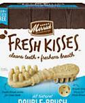 Fresh Kisses Mint Breath Strips Large Brush Dental Dog Treats, 16 Count, 27-oz