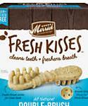 Fresh Kisses Mint Breath Strips Medium Brush Dental Dog Treats, 22 Count, 23-oz