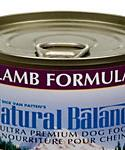 Natural Balance Ultra Premium Lamb Formula Wet Dog Food, 6-oz, Case Of 12