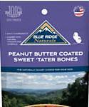 Blue Ridge Naturals Peanut Butter Coated Sweet Tater Bone Dog Treats, 5-oz
