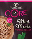 Wellness Core Natural Grain Free Small Breed Mini Meals Shredded Chicken and Lamb Entree In Gravy Wet Dog Food