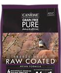 Canidae Grain Free Pure Ancestral Dog Dry Raw Coated Avian Formula With Quail, Chicken, and Turkey