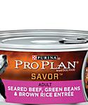 Pro Plan Savor Seared Beef, Green Bean and Brown Rice Adult Canned Dog Food